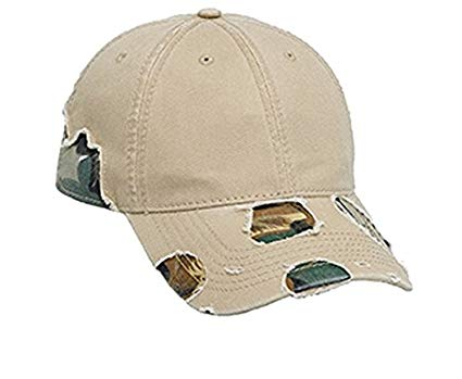 Hats & Caps Shop Camouflage Distressed Superior Garment Washed Cn Twill Low Profile Pro Style Caps - By TheTargetBuys