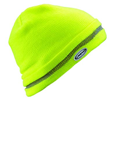 Seirus Innovation 8047 Hi-Vis Workman Knit Beanie Hat - High Visibility Yellow, One Size