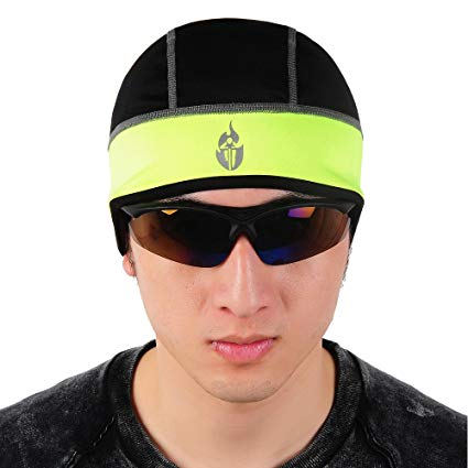 WOLFBIKE Bike Cycling Thermal Fleece Outdoor Sports Helmet Hat Cap - All Black