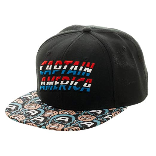 Captain America- Determined Hero Bill Snapback Hat Size ONE SIZE